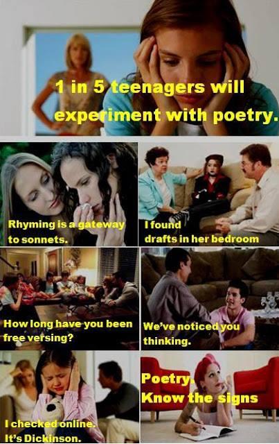 Free versing poetry humor poster funny poetry stuff